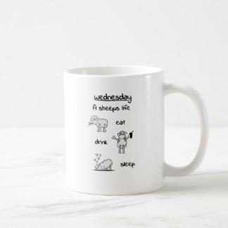 sheeps life wednesday coffee mug