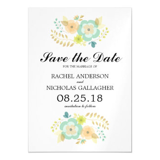 Sheer Summer Flowers | Save the Date Magnetic Invitations
