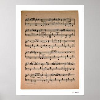 Sheet Music 7 Print