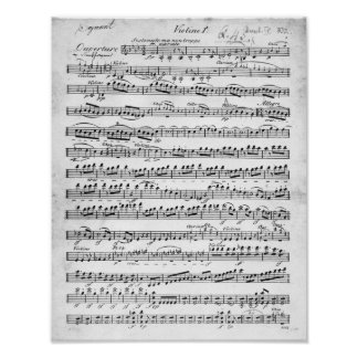 Sheet Music for the Overture to 'Egmont' Posters