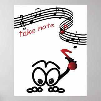 Sheet  Music New Teacher Musician Composer Funny Poster