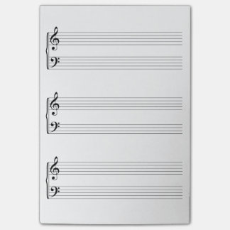 Sheet Music Post-it® Notes