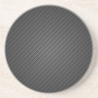 Sheet Of Carbon Fibre Texture Beverage Coasters