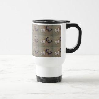 Shells on a mug for a beach theme