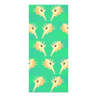 Shells pattern custom rack cards
