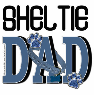Sheltie DAD Standing Photo Sculpture