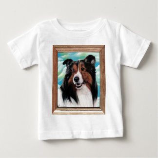 Sheltie Painting Baby T-Shirts
