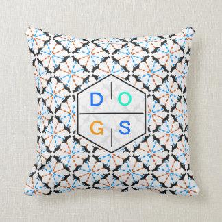 Shepherd Dog Pattern Throw Pillow