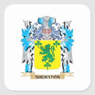 Sheraton Coat of Arms - Family Crest Square Sticker