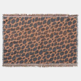 Sherbert Black Cheetah Throw Blanket