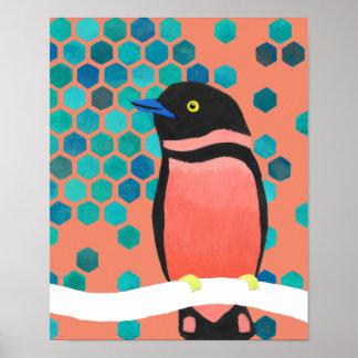 Sherbert Burst Bird Poster