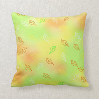 Sherbert Colors with Small Leaf Print customizable Cushion