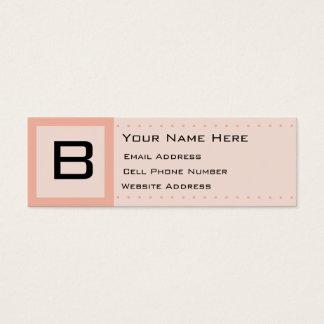 Sherbert Deco Initial Skinny Profile Business Card