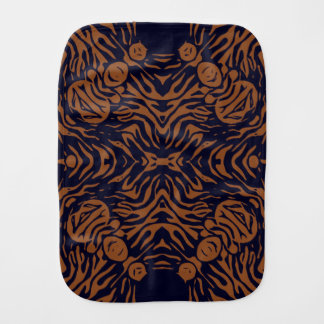 Sherbert Zebra Abstract Burp Cloth