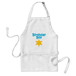 Sheriff Birthday Boy 3 Aprons
