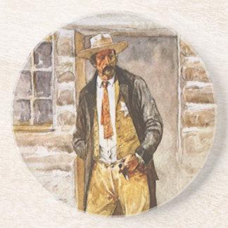 Sheriff Portrait by Seltzer, Vintage West Cowboy Coaster
