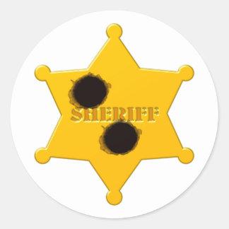 Sheriff star of bullet holes sheriff's star bullet