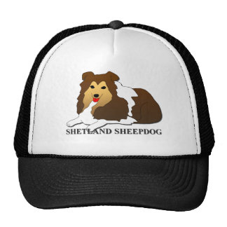 Shetland Sheepdog Dog Cartoon Cap