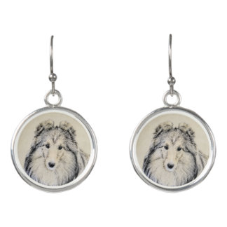 Shetland Sheepdog Earrings