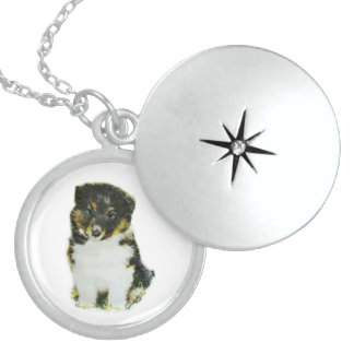 Shetland Sheepdog Locket Necklace