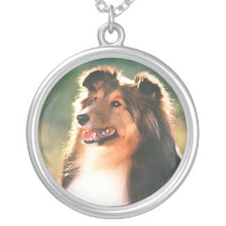 Shetland Sheepdog Silver Plated Necklace