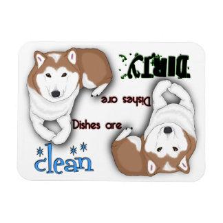 Shiba Inu Rectangle Dishwasher Magnet