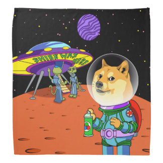 Shibe Doge Astro and the Aliens Memes Cats Cartoon Kerchief