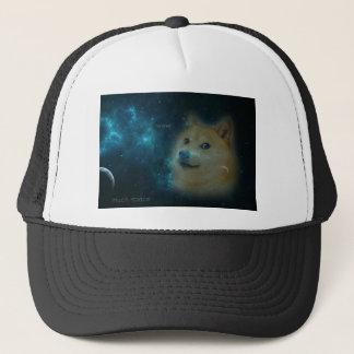 shibe doge in space trucker hat
