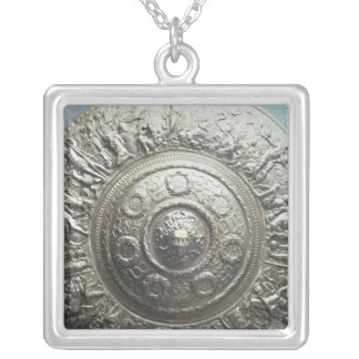 Shield with the head of Medusa, 1552 Silver Plated Necklace