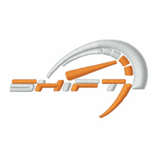 Shift Black Polo_ White/Orange Logo Polos
