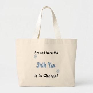 Shih Tzu Charge Large Tote Bag