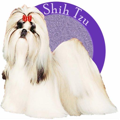Shih Tzu Purple Photo Pin Acrylic Cut Out