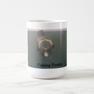 Shih Tzu with fishing gear Coffee Mugs
