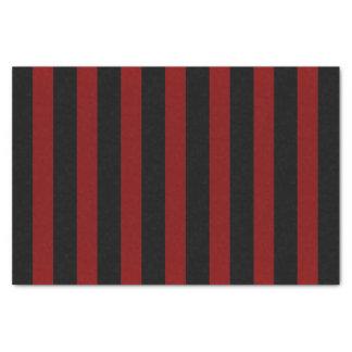 Shimmery Deep Redand Black Stripes Tissue Paper