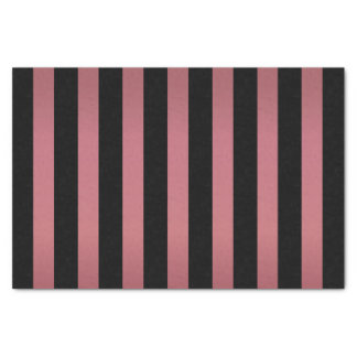 Shimmery Dusty Rose and Black Stripes Tissue Paper
