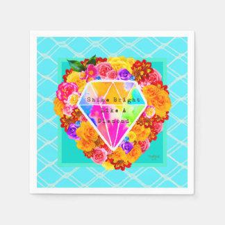 Shine Bright Like A Diamond Disposable Serviettes