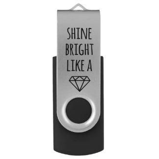 Shine Bright Like a Diamond USB Drive Swivel USB 2.0 Flash Drive
