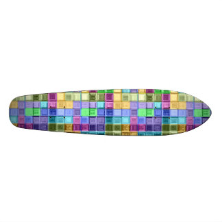 Shiney Colorful Mosaic Art 20.6 Cm Skateboard Deck