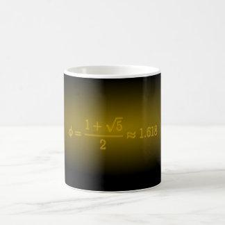 Shining Golden Ratio Basic White Mug