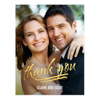 Shining Moment Photo Thank You Card Postcard