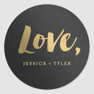 Shining Promise Love Wedding Favor Sticker