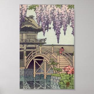 Shinto Architecture, Kameido Bridge Kawase Poster