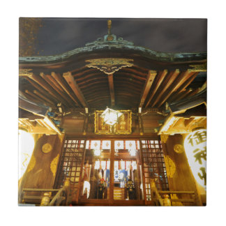 Shinto temple in Tokyo, Japan Tile