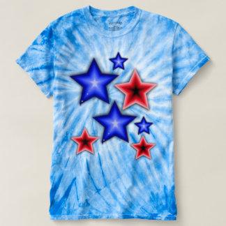 Shiny Blue & Red Stars Tshirts