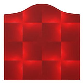 shiny checks red door sign