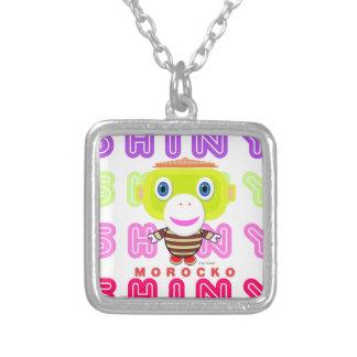 Shiny-Cute Monkey-Morocko Silver Plated Necklace