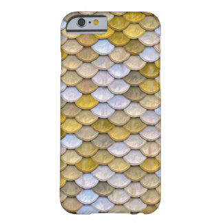 Shiny Fish Scales Effect Pattern Gold Silver Barely There iPhone 6 Case