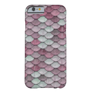 Shiny Fish Scales Effect Pattern Pink White Barely There iPhone 6 Case