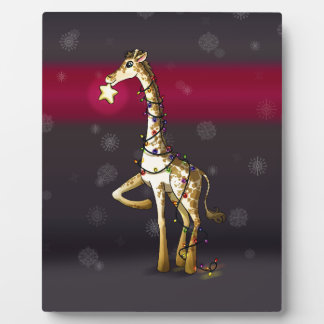 Shiny Giraffe Plaque