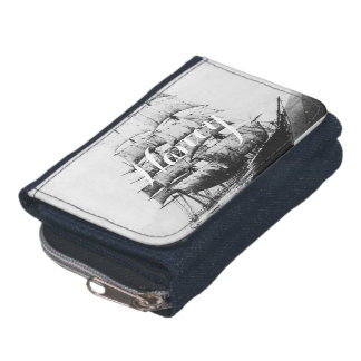 Ship Black and White Wallet